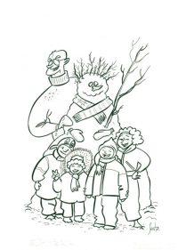 Ilustracion para Cavaltour Muñeco de Nieve