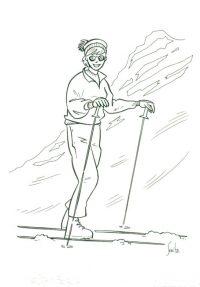 Ilustracion-para-Cavaltour-mujer-sola-esquiando