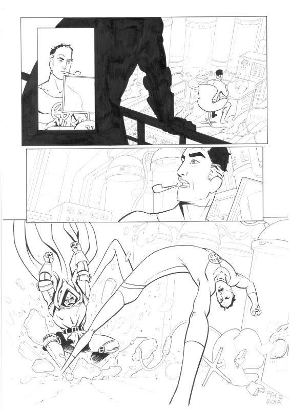 Dibujo Original De Paco Roca Prueba Para Marvel Los 4 Fantásticos